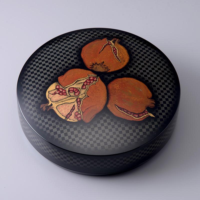 乾漆蒟醤丸箱「実り」かんしつきんままるばこ みのり