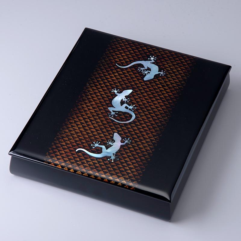 螺鈿蒔絵文箱「夏の夜」らでんまきえふみばこ なつのよる